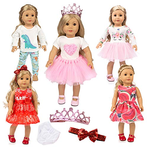 18 inch doll clothes and accessories Unicorn Pajamas Set Outfits for American 16