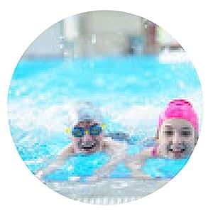 alfombrilla de ratón grupo de niños en la piscina - ronda - 20cm