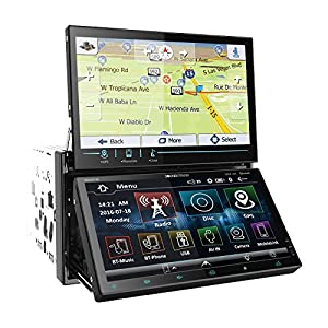 """Soundstream VR-NDD7HB Double DIN Bluetooth In-Dash DVD/CD/AM/FM Car Stereo Receiver With Dual 7"""" Screens, Glass Touchscreens"""