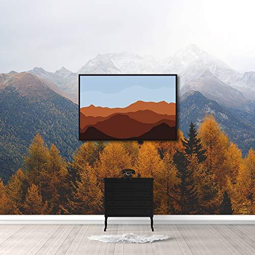 Framed for Living Room Bedroom Misty Mountain Theme for