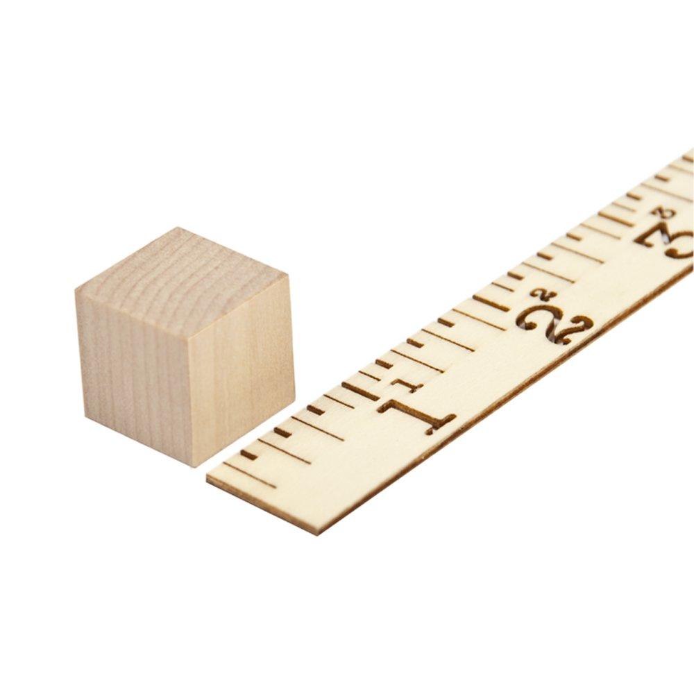 Wooden Cubes - 3/4 Inch - Wood Square Blocks For Math, Puzzle Making, Crafts & DIY Projects (3/4'') - by Craftparts Direct - Bag of 500 by Craftparts Direct (Image #2)