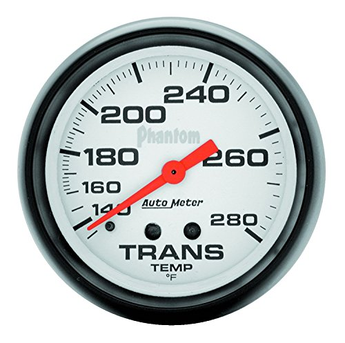 Auto Meter 5851 Phantom Mechanical Transmission Temperature (Mechanical Transmission Temperature Gauge)