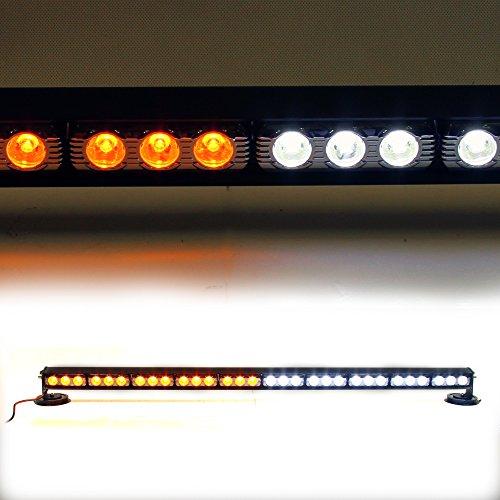 90 Watt Strobe Light (LED POST SL-CIG-BAR-HP10P-3W-AMBERWHITE Amber/White 38.5