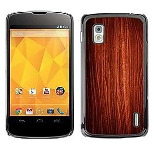 Be Good Phone Accessory // Dura Cáscara cubierta Protectora Caso Carcasa Funda de Protección para LG Google Nexus 4 E960 // Wallpaper Art Wood Interior Design Texture