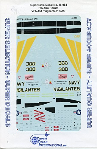 """SuperScale Decals 1:48 F/A-18C Hornet VFA-151 """"Vigilantes"""" for sale  Delivered anywhere in USA"""