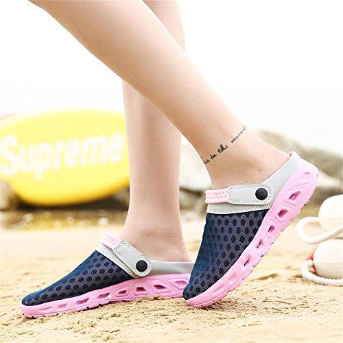 All'aperto Zoccoli Uomo Spiaggia Ciabatte Con Donna Da Sandali Respiranti Fori Rosa Pantofole Kemosen Scarpe Sabot w5q8I4UI