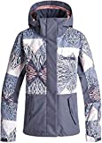 Roxy Snow Junior's Jetty Block Snow Jacket, Powder Blue_Animal geo, M