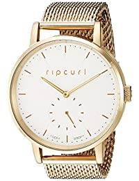 Rip Curl Women's 'Circa Gold SSS' Quartz Stainless Steel Sport Watch, Color: White and Goldtone (Model: A2886G-GOL)