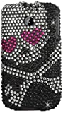 Reiko DPC-HUAWEIM865-03 Fashionable Premium Bling Diamond Protective Case for Huawei Ascend II (M865), 1-Pack, Retail Packaging, Black and Pink