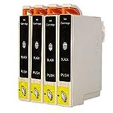 O'Image 4-Pack 220 T220XL Black Ink Cartridge Replacing for Epson Expression XP-320 420 424 WorkForce WF-2630 WF-2650 WF-2660 Series Printers (4-Pack: 4K)