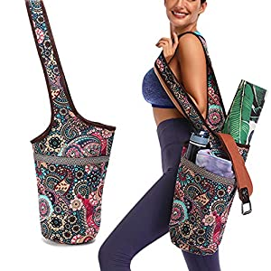 Yoga Pads Large Pockets and Zipper Pockets Fitness Bags Yoga Bags Shopping and Leisure Bags