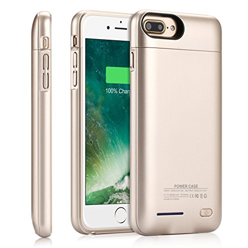 iPhone 8 Plus / 7 plus / 6S Plus Battery Charger Case ,YISHDA 4200mAh Exteneded External Battery Backup Power Charger Case Cover with Magnet Kickstand for iPhone 8 Plus iPhone 7 plus/ 6s plus / 6 plus -5.5Inch