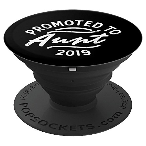Promoted to Aunt 2019 Soon To Be Auntie Announcement Gift PopSockets Grip and Stand for Phones and Tablets