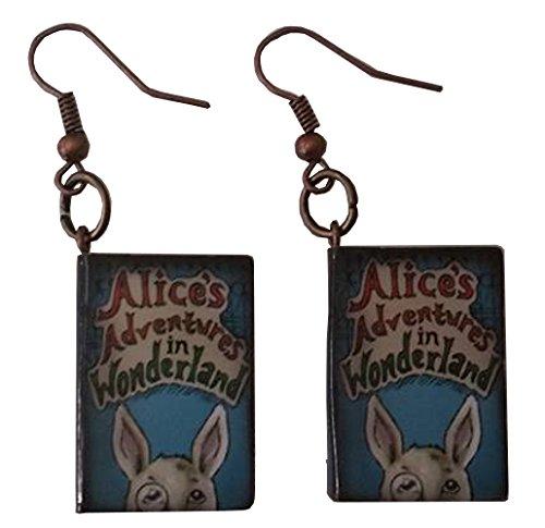 Alice In Wonderland Blue Caterpillar Costume - Alice in Wonderland Story Book Dangle Earrings