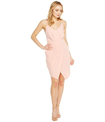 dbb91162 Amazon.com: Adelyn Rae Women's Noemi V-Neck Sheath Dress Pink Sand ...