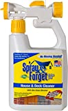 Spray & Forget House & Deck Cleaner with Hose End Sprayer, 32 oz Bottle, 1 Count, Outdoor Cleaner, Mold Remover, Mildew Remover