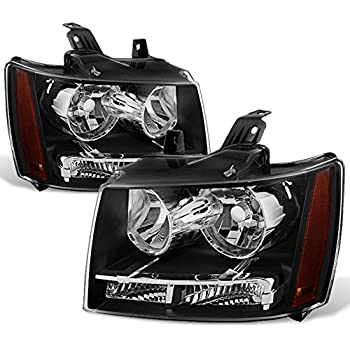 Amazon brock driver and passenger headlights headlamps forblack bezel 07 13 suburban tahoe avalanche headlights front lamps direct replacement left right freerunsca Images