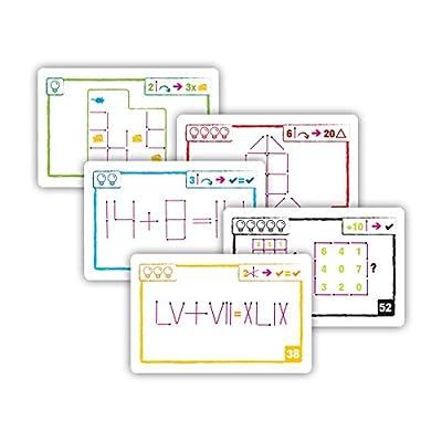 Brain Games Logic Cards Matchsticks - Math Brain Teaser Card Game for Kids, Teenagers & Adults - Award Winning Family Fun!: Toys & Games