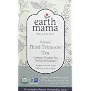 Earth Mama Organic Third Trimester Tea Bags for Pregnancy Labor Preparation and Leg Cramps, 16-Count