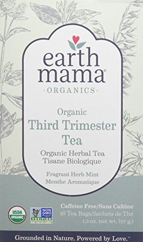 Earth Mama Organic Third Trimester Tea Bags for Pregnancy Labor Preparation and Leg Cramps, - Red Tea Leaf Raspberry