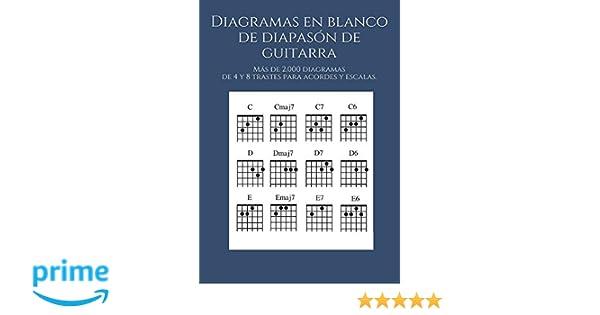 Diagramas en blanco de diapasón de guitarra: Más de 2.000 diagramas de 4 y 8 trastes para acordes y escalas.: Amazon.es: Victor Diaz Lobaton: Libros