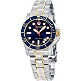 Wenger Battalion III Diver Blue Dial Stainless