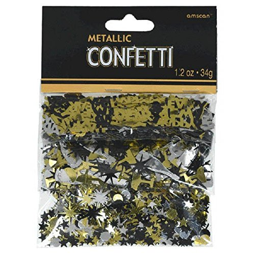 amscan New Year Assorted Foil Confetti | Party Supply