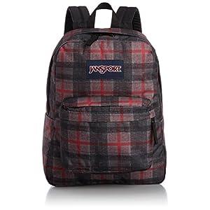 JanSport SuperBreak Backpack (Red Tape Knit Plaid)