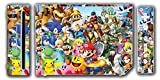 Super Smash Bros Ultimate Melee Brawl Mario Yoshi Mega Man Zelda Sonic Metroid Video Game Vinyl Decal Skin Sticker Cover for the Nintendo Wii System Console