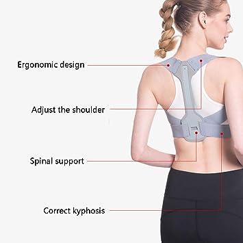 JMung'S Posture Corrector Adjustable Shoulder Invisible correction hump correction belt back correction spine Help for Men or Women Back, Neck and