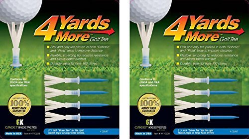 "4 Yards More Golf Tees - Blue ""Driver Tee"" - 3 1/4"" (2 Count)"