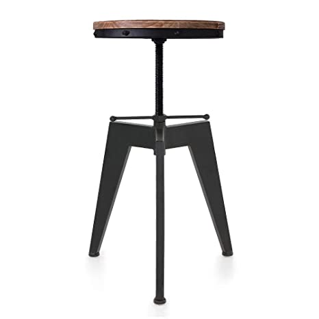 Peachy Articial Wood And Metal Bar Stool Swivel Kitchen Dining Chair Vintage Industrial Bar Stools Adjustable Height Machost Co Dining Chair Design Ideas Machostcouk