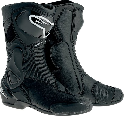 Alpinestars SMX-6 Men's Motorcycle Street Boots Vented (Black, EU Size 47) (Vented Motorcycle Boots)