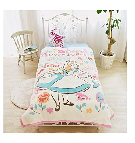 Costume Cammy White (Disney Alice Picture Blanket Washable for Twin sized)