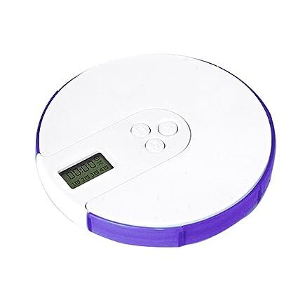 Jannyshop 7 Cuadrículas Electrónico Organizador Semanal de Pastillas Droga Inteligente Calendario Recordatorio Caja de Pastillas de