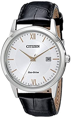 Citizen Men's Eco-Drive Stainless Steel Watch with Date, AW1236-03A by Citizen Watch Company