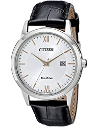 Men's Eco-Drive Stainless Steel Watch with Date, AW1236-03A