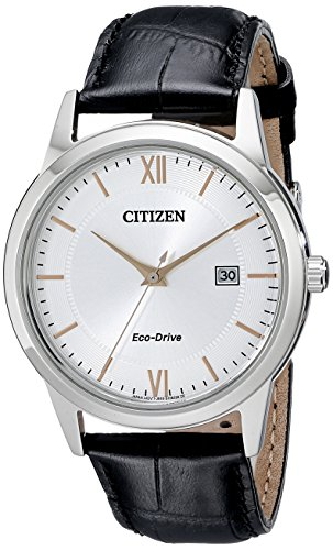Citizen Men's Eco-Drive Stainless Steel Watch with Date, AW1236-03A - Eco Drive Stainless Steel Watch
