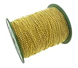 CleverDelights Ball Chain Spool - 330 Feet - Gold Color - 2.4mm Ball - #3 Size - Bulk Chain Roll