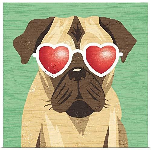 GREATBIGCANVAS Poster Print Entitled Beach Bums Pug I by Michael Mullan 35