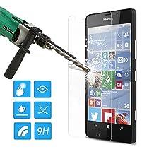 Lumia 950 Screen Protector, MoKo HD Clear [Tempered Glass] Screen Protector for Microsoft Lumia 950 5.2 Inch, Scratch Proof Anti-Bubble Glass Film - Lifetime Warranty