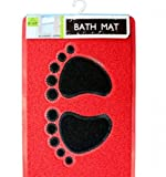 SKB Family Feet Design Massaging Bath Mat showers tubs outside floor cushioned durable plastic