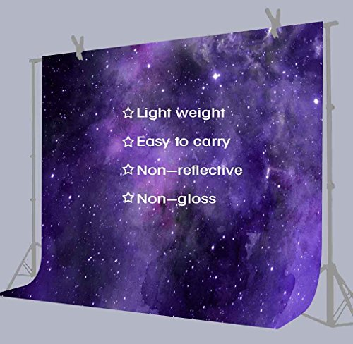 FUERMOR Background 10x7ft Purple Starry Sky Photography Backdrop Space Party Studio Photo Props GEFU533