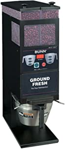 BUNN 33700.0001 G9-2T Digital Brew Control BLACK-SMART Funnel Lock Portion Control Grinder