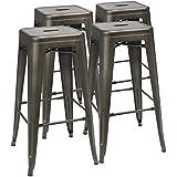 Amazoncom Backless Barstools Home Bar Furniture Home Kitchen