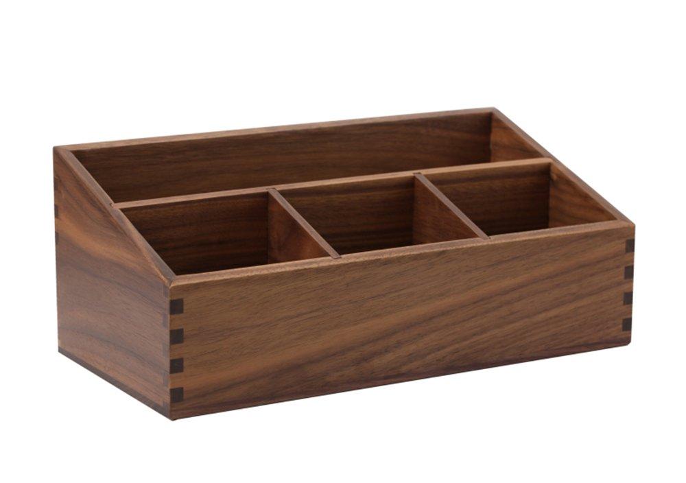 Caja de clasificación de escritorio Cosméticos de almacenamiento de madera maciza Vintage Decoración del hogar Regalos de vacaciones Servicio ...