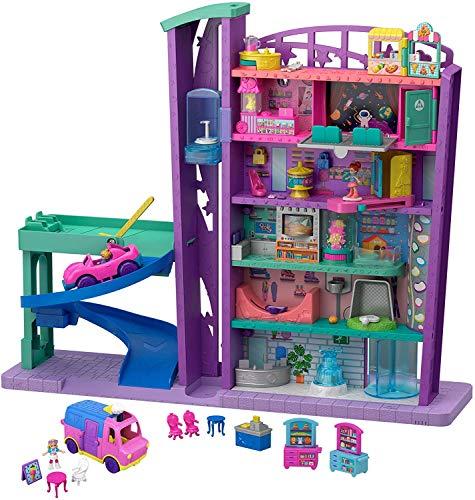 Polly Pocket Pollyville Mega Mall Super Pack (Amazon Exclusive) (Polly Pocket Toys)