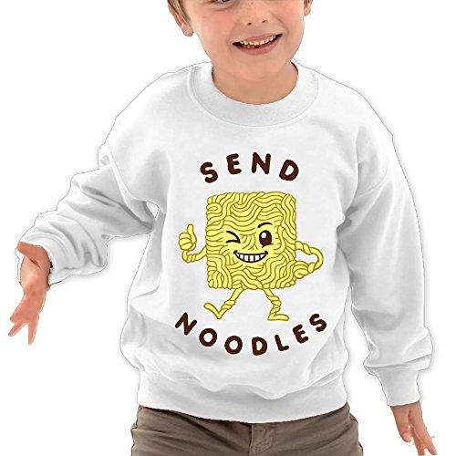 Puppylol Send Noodle Kids Classic Crew-Neck Pullover Sweatshirt White 2 Toddler