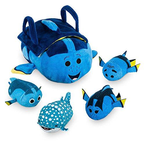 Disney Finding Dory ''Tsum Tsum'' Plush Set - Small Tote - 9 1/2 Inch - Plus 4 Minis - 3 1/2 Inch