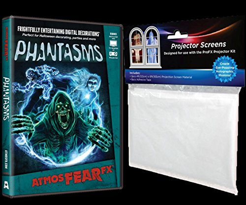 (AtmosFEARfx Phantasms Haunted House Halloween Digital Halloween Decoration - Video Projection Effects DVD )